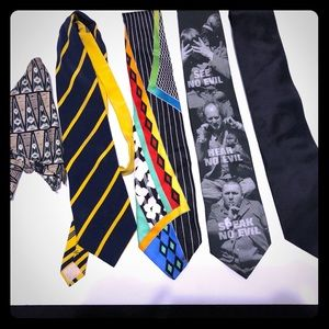 Vintage Ties Gianni Versace, Ralph Marlin Carlo Pa